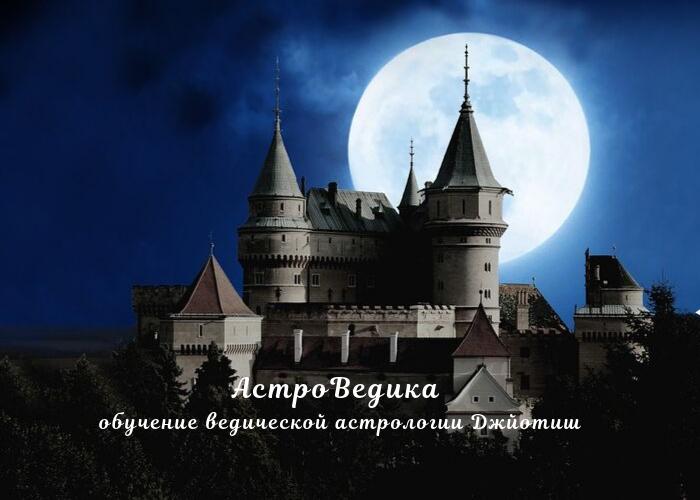 Луна в домах Джйотиш